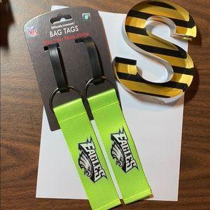 NFL EAGLES Neon Bag Tags
